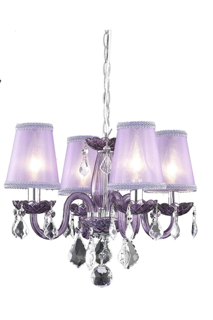 814 best chandeliers and hanging lights images on pinterest elegant lighting rococo purple chandelier with purple royal cut crystal on sale arubaitofo Image collections