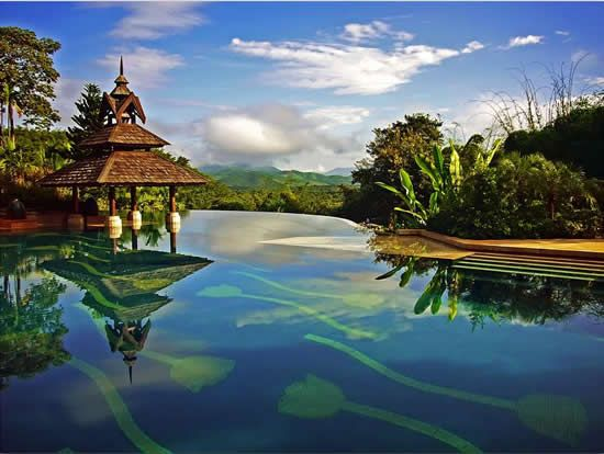 Anantara Golden Triangle Resort Infinity Pool - Thailand