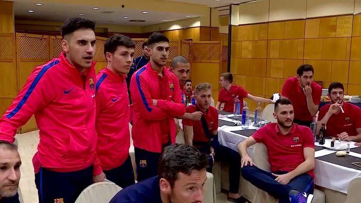 FC Barcelona Futsal players' reaction to Sergi Roberto's goal is priceless!