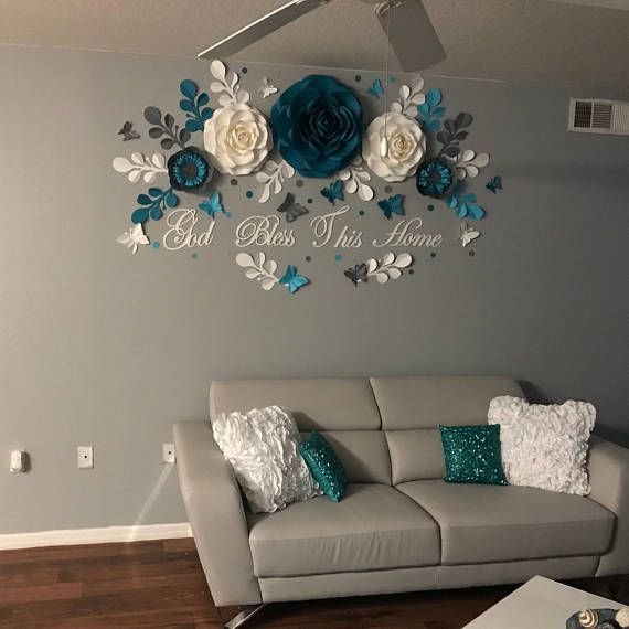 Paper Flower Wall Decor Home Decor Paper Flowers Backdrop