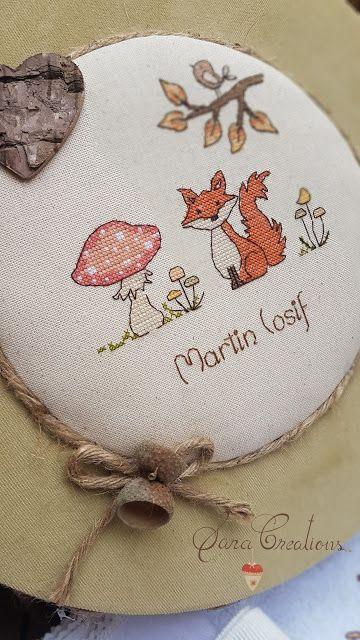 Sara Creations - set botez personalizat cu broderie manuala, format din: trusou botez, cutie trusou si inimioara cu flori de lavanda
