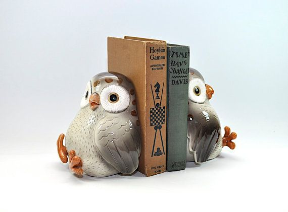 Superb Vintage Owl Bookends Book Ends   Fitz And Floyd   Ceramic Owl Decor