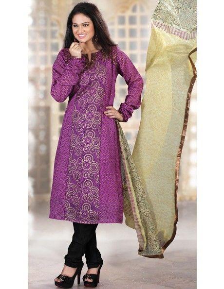 Buy Refreshing Purplish Pink Suit Online. http://www.bharatplaza.com/womens-wear/readymade-suits/bollywood-salwars.html