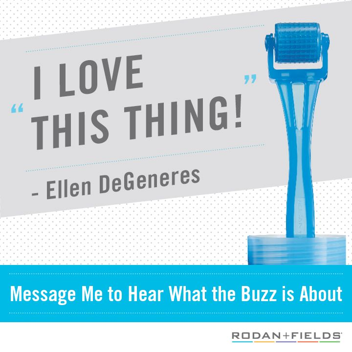 #EllenDeGeneres loves the #RodanFieldsRoller ! It firms and smooths the skin for a firmer, more radiant face. $200 retail with Night Renewing Serum: https://jenspector.myrandf.com/Shop/Product/AAAPS01