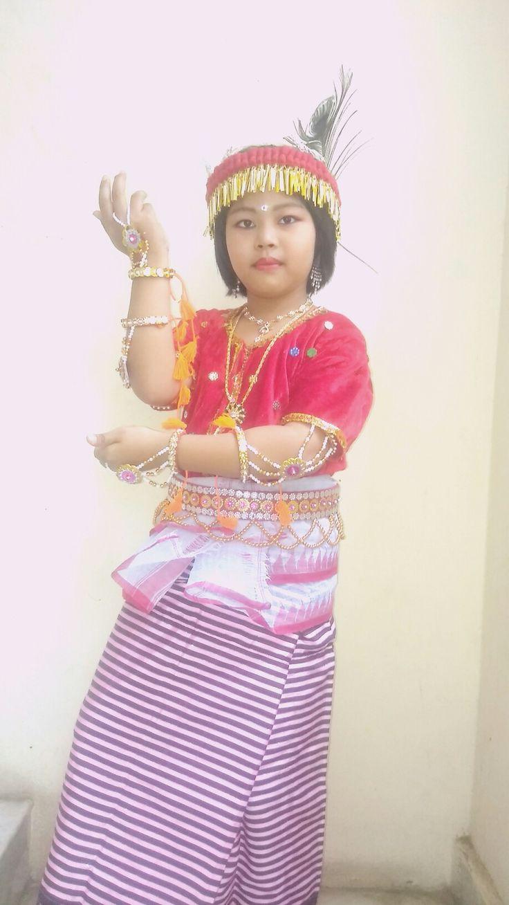 Manipuri traditional dance dress