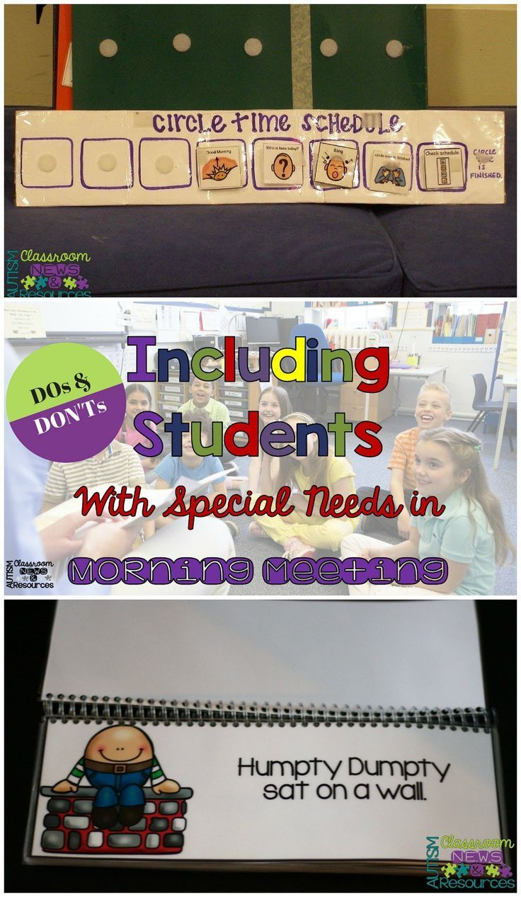 Classroom Ideas For Special Needs Students ~ Best images about morning meeting autism sped