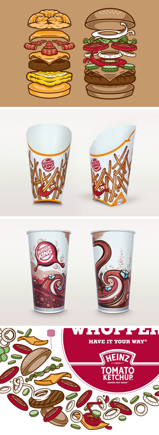 Burguer King 2012--animated designs that are fun for the eyes.