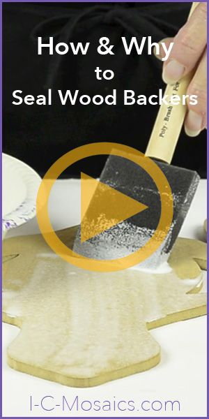 It is essential to seal wood backers. However, it is easy to do without adding new supplies. Watch to see how and why. http://www.i-c-mosaics.com/education/sealing-wood-backers.html