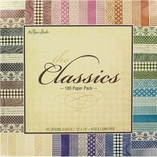 The paper studio 12 x 12 the classics paper pack shop for Hobby lobby craft paper
