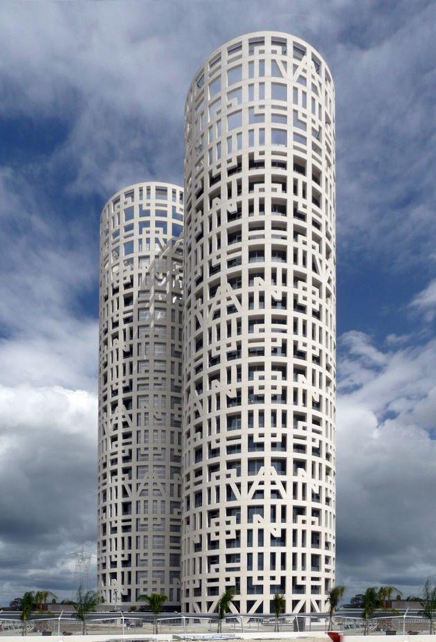 Terros de Hercules, Spain. Designed by Rafael de La-Hoz: De Lahoz, Building, Modern Art, Towers, Rafael De, De La Hoz, Terro De, De Hercules, Spanish Architecture