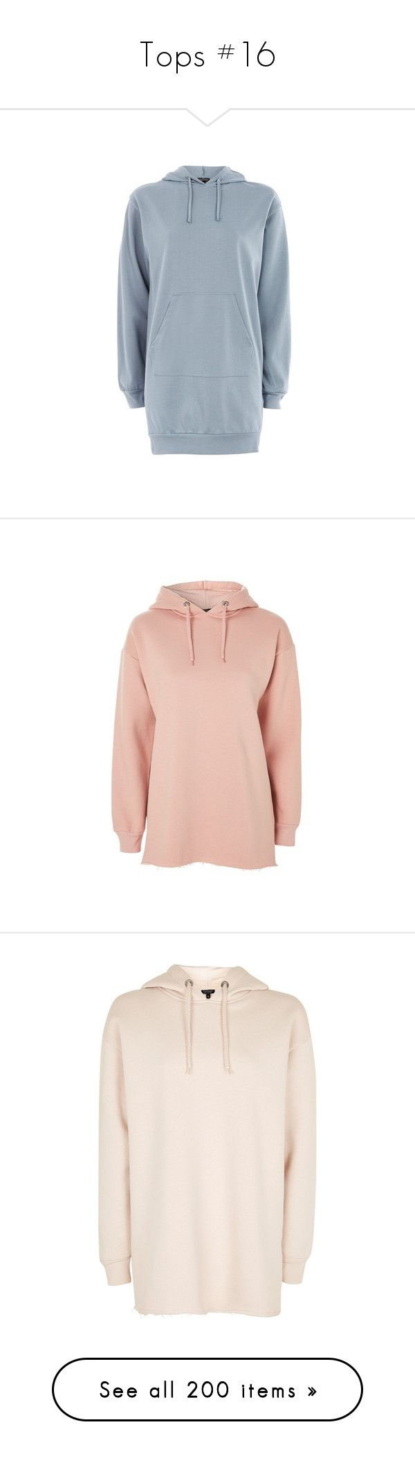 """""""Tops #16"""" by andriana-aaa ❤ liked on Polyvore featuring tops, hoodies, blue, cotton hoodie, topshop tops, petite hoodies, cotton hoodies, oversized hoodie, rose and hoodie top"""