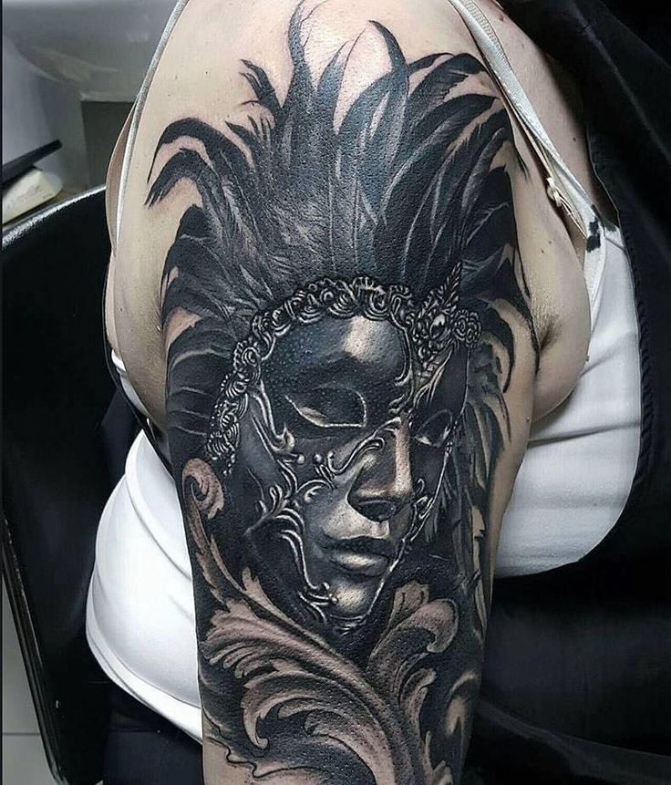 30 of the most beautiful and mysterious venetian mask tattoos and their meaning venetian mask. Black Bedroom Furniture Sets. Home Design Ideas