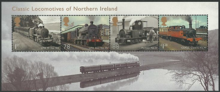 Classic Locomotives of Northern Ireland from the 2013 Miniature Sheet