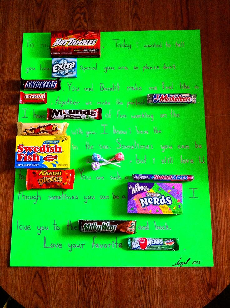 my candy card i made for my boyfriend on sweetest day