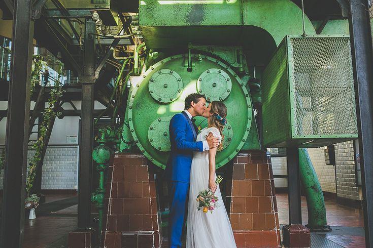 NURIA & DAAN  boda en el Museo de la Energia de Ponferrada