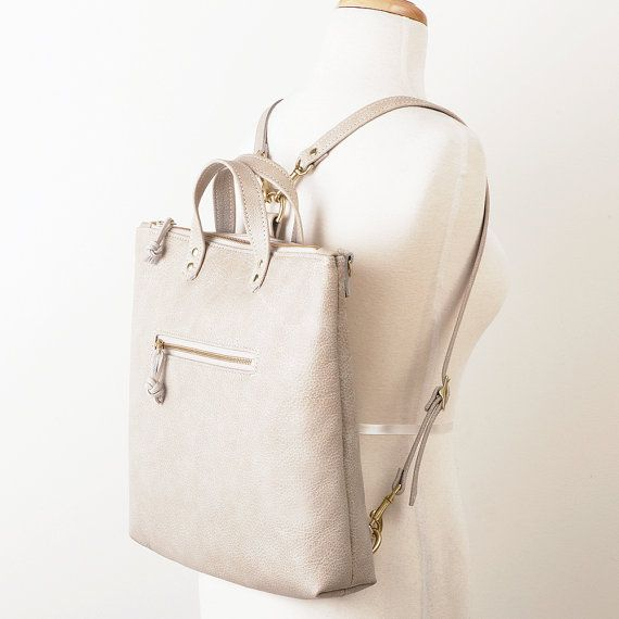 Tan+Leather+Backpack+Convertible+Backpack+Student+by+JillyDesigns