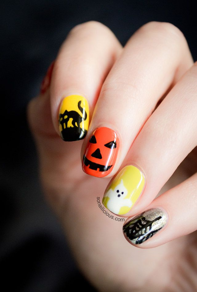 Amazing Halloween Nails. click for more Halloween Nails ideas.