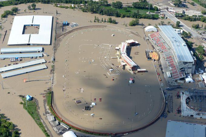 Saddledome grounds