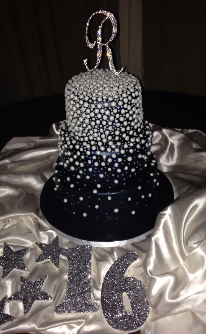 Under The Stars Cake July 2015 Sweet 16 Bday Party