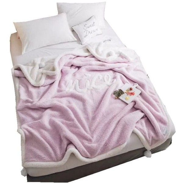 Dahlia 200CM X 230CM Taro Purple Embroidered Thick Lamb Fleece Blanket (52 BAM) ❤ liked on Polyvore featuring home, bed & bath, bedding, blankets, purple bed linen, embroidered throw, fleece bedding, fleece blankets and fleece throw