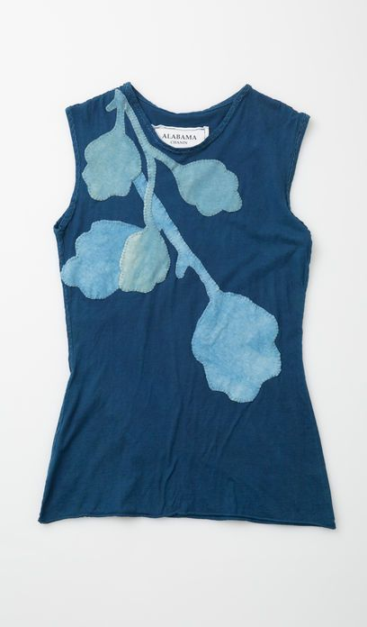 #12797: New Leaves Shell Top