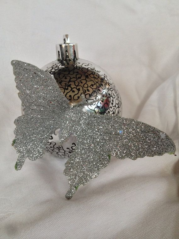 Hand painted butterfly Christmas bauble. on Etsy, $14.95 AUD