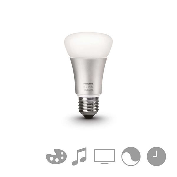 Bec LED Philips Hue, 10W, E27, White and color ambiance http://www.etbm.ro/philips-hue---connected-lighting