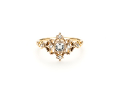 agete white topaz ring