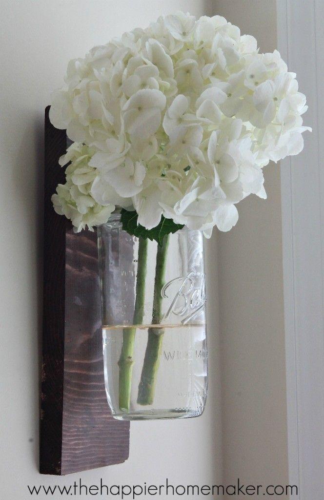 diy mason jar wall vase tutorial