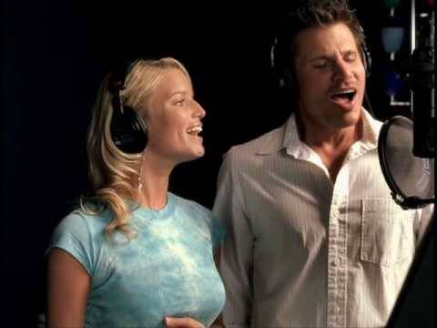 First dance! Jessica Simpson & Nick Lachey - A Whole New World (HQ Music Video)