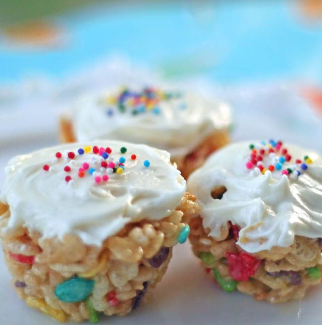Little Cereal Birthday Cakes
