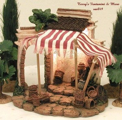 "FONTANINI ITALY 2.5"" EARLY BASKET SHOP NATIVITY VILLAGE BUILDING 50234 MIB"