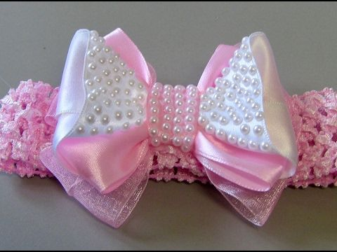 Laço para Princesa com fita de cetim e organza -DIY- Bow Tie for Princesses - YouTube
