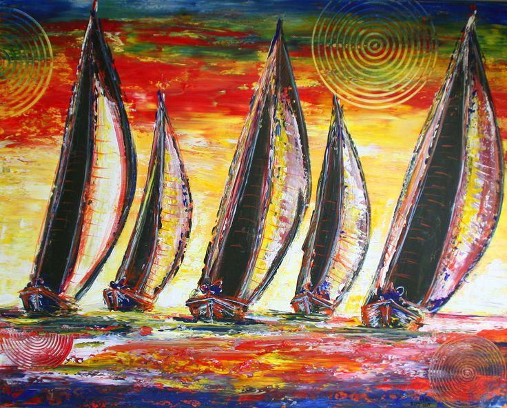 Segelboote - Sturmsegel - Moderne Malerei, Maritimes Gemälde 80x100 #segelbootegemalt #segelboote #segelboothandgemalt #handgemalteboote  #segelbooteabstrakt #abstraktboote #bootegemalt #bootegemälde #gemäldesegelboot