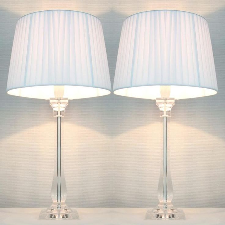 2x Classic Modern Bedside Lamps - White Shades | Buy Recently Purchased