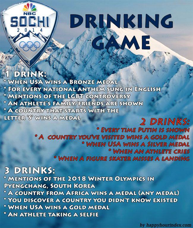 Sochi 2014 Winter Olympics Drinking Game
