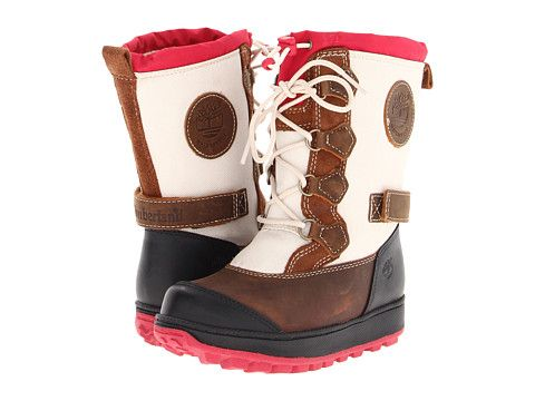 Timberland Kids Mukluk Holderness Waterproof Tall Lace Boot (Infant/Toddler) Medium Brown/Red - 6pm.com