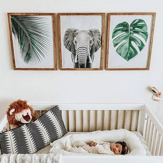 Boho Nursery Decor Jungle Animal Decor Nursery Room Design Baby Room Decor Nursery Decor