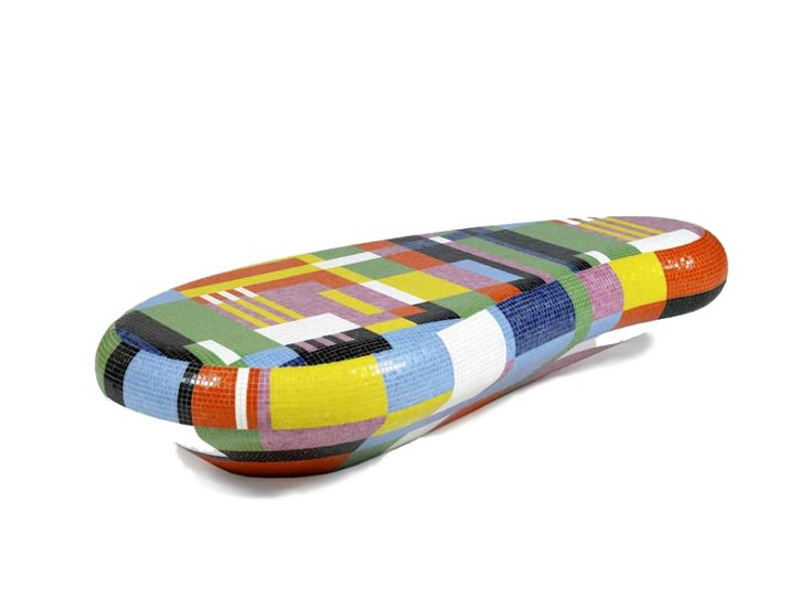 TAVOLINO ALL' APERTO Coffee Table-Seating Bench by Alessandro Mendini from BISAZZA (Limited Edition, 2008)  http://www.design-fair.com/tavolino-all-aperto-coffee-table-seating-bench-by-alessandro-mendini-from-bisazza-limited-edition-2008/  #Design #ModernStyle #PopArt #Furniture #Garden #GardenFurniture #OutdoorFurniture #LivingRooms #CoffeeTables #SeatingBenches #AlessandroMendini #AtelierMendini #BISAZZA #Italy #Italian #GalerieKreo