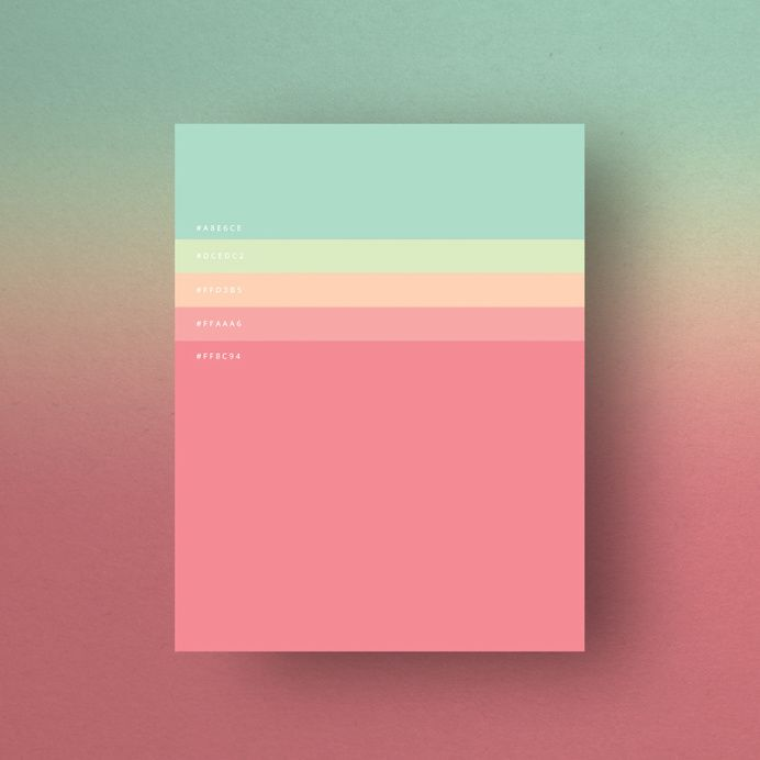 Minimalist Color Palettes 2015 on Designspiration