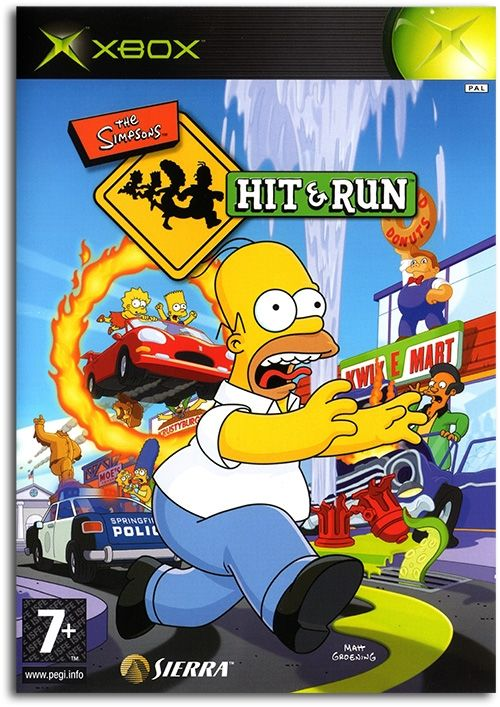 The Simpsons: Hit & Run Poster Xbox Game Cover Artwork