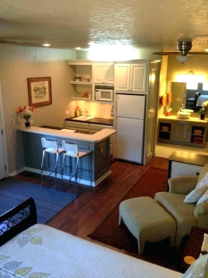 studio or basement apartment