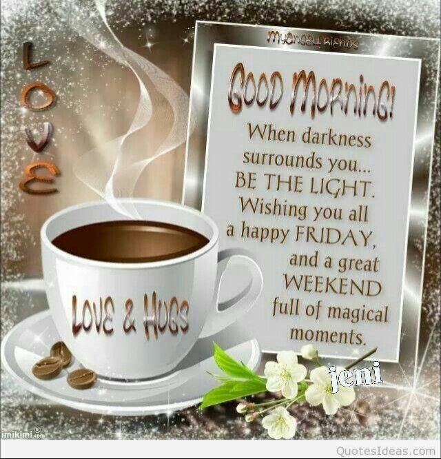 Good morning.Happy weekend!