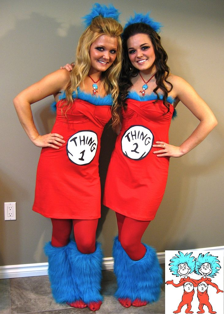Thing 1 & Thing 2 Halloween Costume #Halloween  @Erin B Elizabeth {Sweetness Itself Blog}... SOOO ADORABLE... I wouldlove to dress like this with my best friend shannon one year :D <3