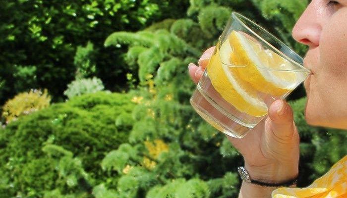 LDL Beber agua tibia con limon