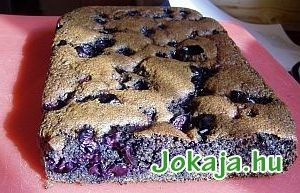 Meggyes mákos süti, liszt nélkül