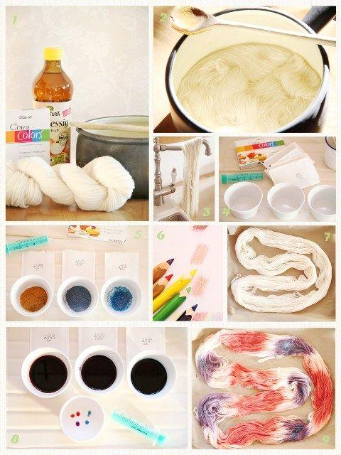 epipa: DIY - Wolle färben mit Lebensmittelfarben