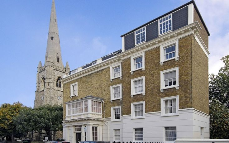 Beneath the St Gabriels Church, this three-bedroom apartment includes its own garden and patio area.  Guide Price: 2.5 Million