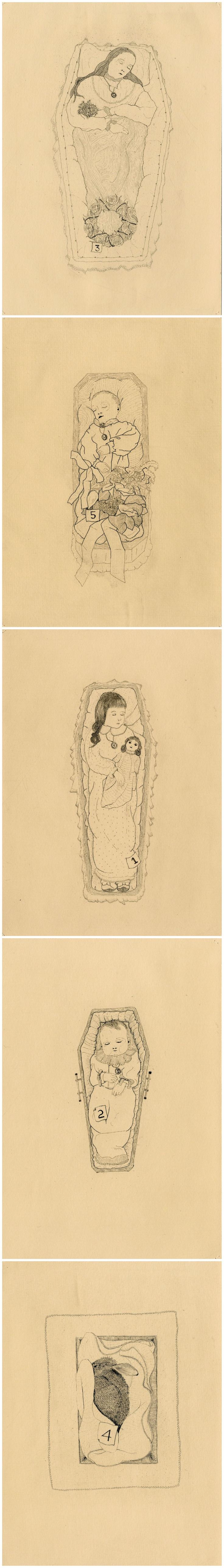 The Hüberman Children and Rabbit // copper etching // Eleanor Phillips