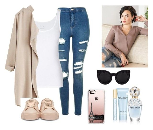 """""""Little more"""" by conimallete on Polyvore featuring moda, Topshop, Jil Sander, Marc Jacobs y Casetify"""